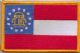 Georgia US Embroidered Flag Patch, style 08.